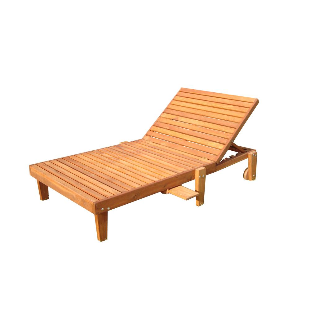 - Wide Summer 1905 Super Deck Redwood Outdoor Chaise Lounge-CLSMWB