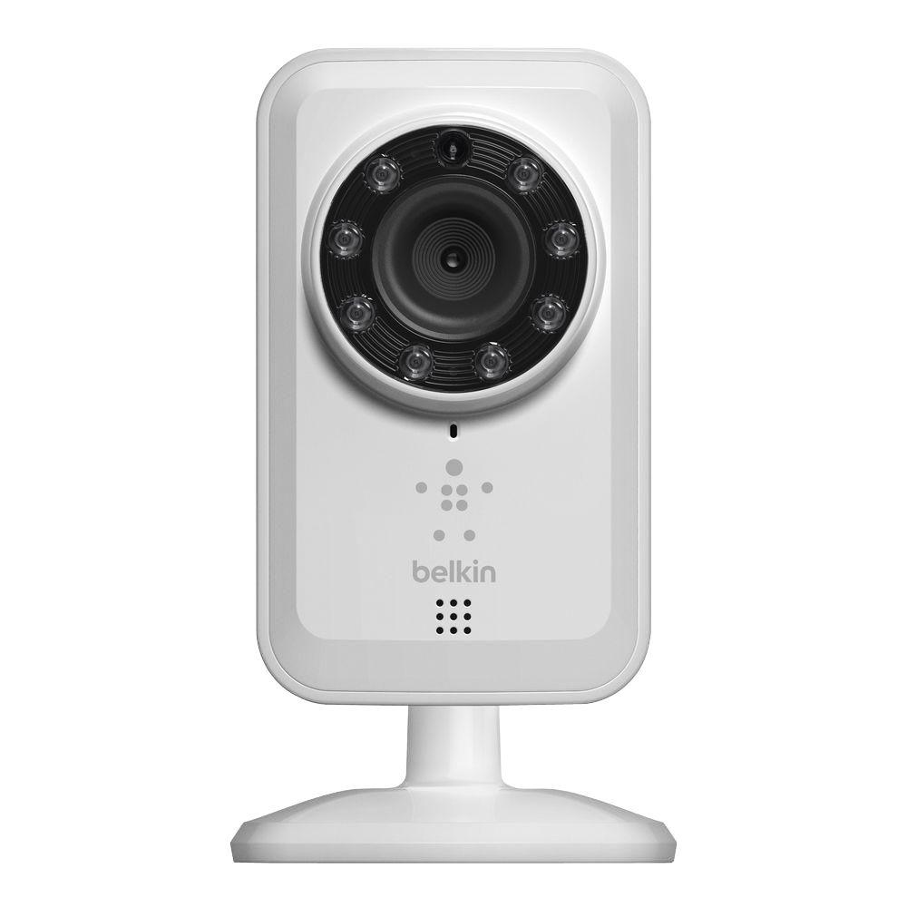 Belkin NetCam Wireless 700 TVL IP Video Surveillance Camera for Tablet and Smartphone with Night Vision and Digital Audio