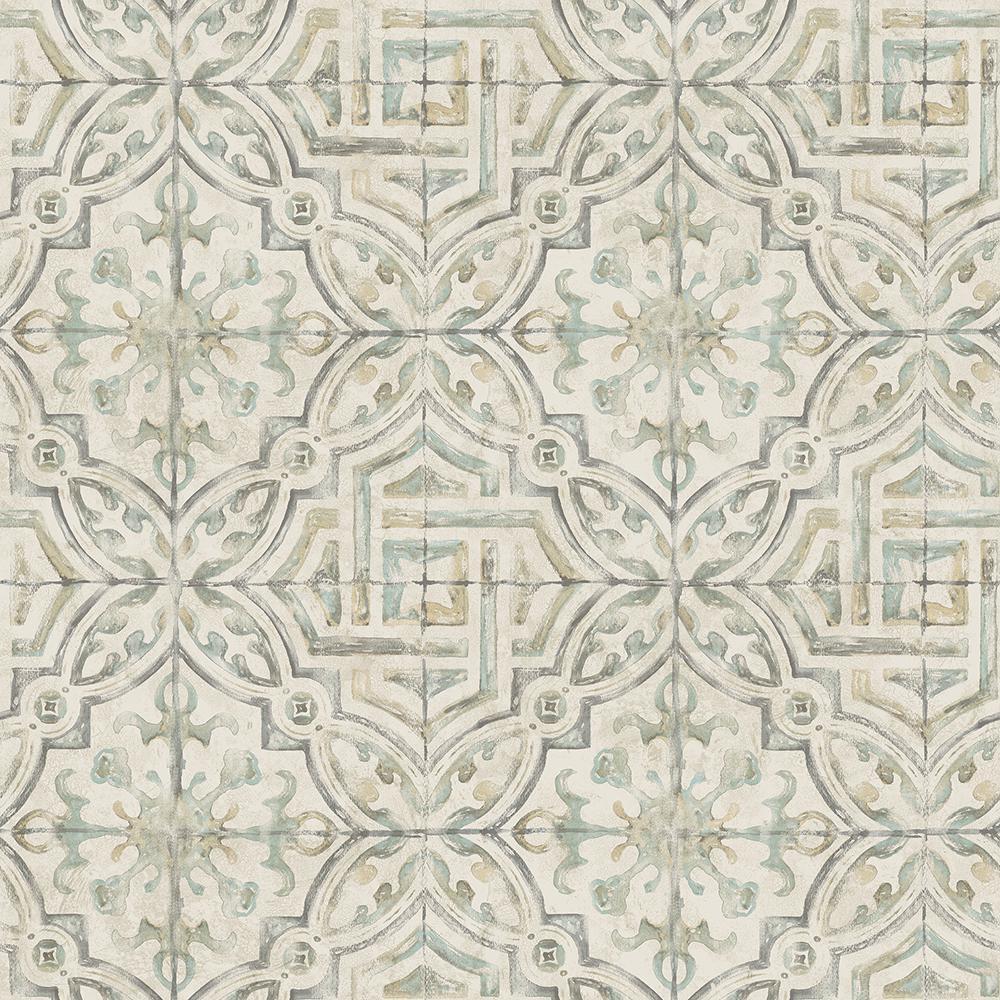 Chesapeake 8 In X 10 In Sonoma Olive Spanish Tile Wallpaper Sample 3117 12335sam The Home Depot