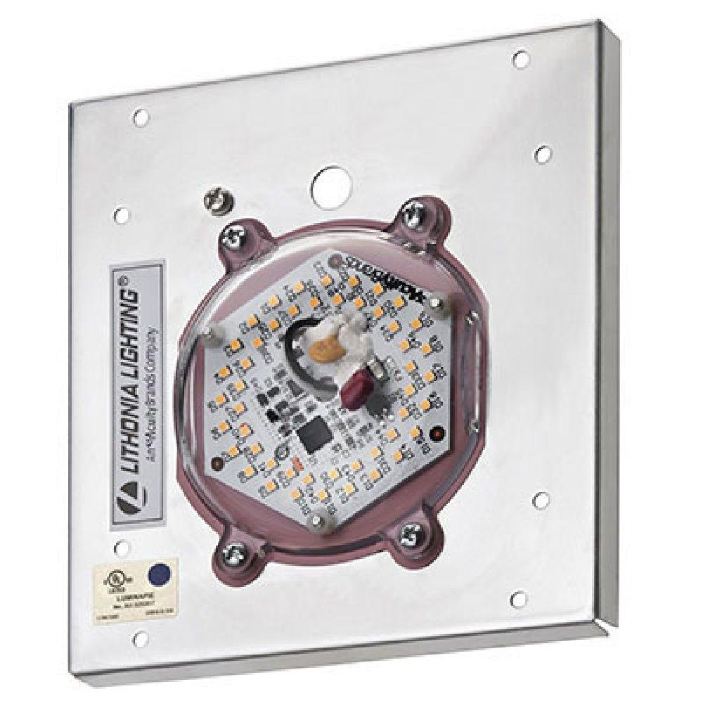 Lithonia Lighting High-Performance Stainless Steel LED Wall Sconce Back Plate  sc 1 st  Home Depot & Lithonia Lighting High-Performance Stainless Steel LED Wall Sconce ...