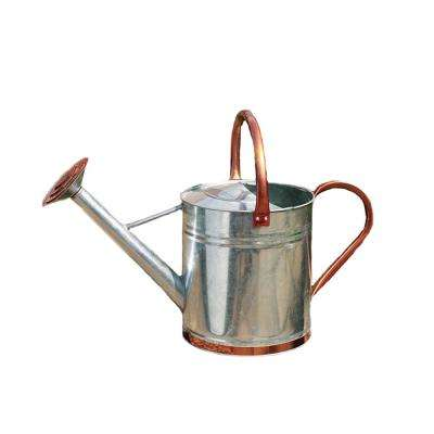1 Gal. Galvanized Watering Can with Copper Accents