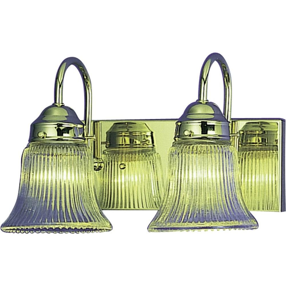 Volume Lighting Marti 2-Light Polished Brass Bath and Vanity Light ...