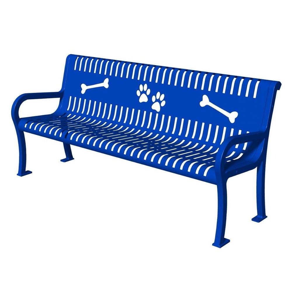 Ultra Play Lexington Series Blue Paws Commercial Bench