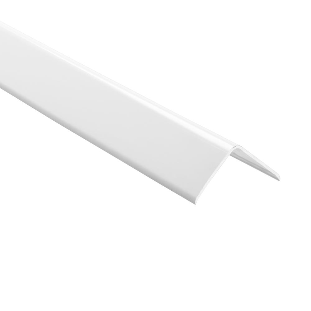Novoescuadra White 2 in. x 98-1/2 in. PVC Tile Edging Trim