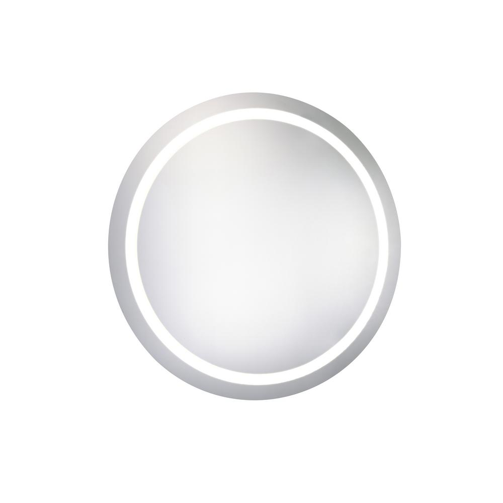 Klein 30 in. x 30 in. LED Wall Mirror with Round