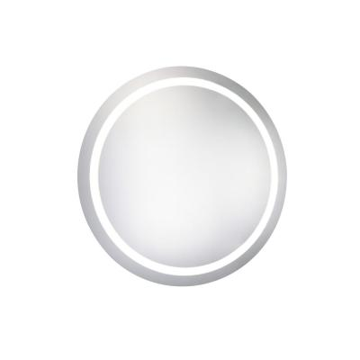 Klein 30 in. x 30 in. LED Wall Mirror with Round Steel Frame Color Temperature 5000K in Glossy White