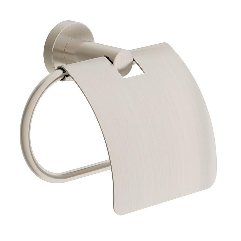 Dia Tank Mounted Toilet Paper Holder in Satin Nickel