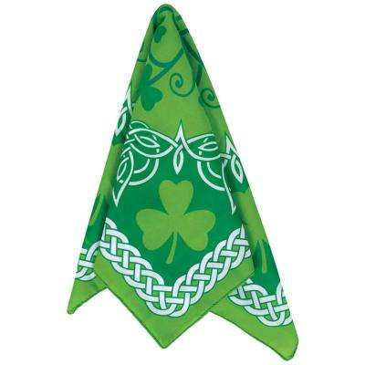 Green and White Celtic St. Patrick's Day Bandana (9-Pack)