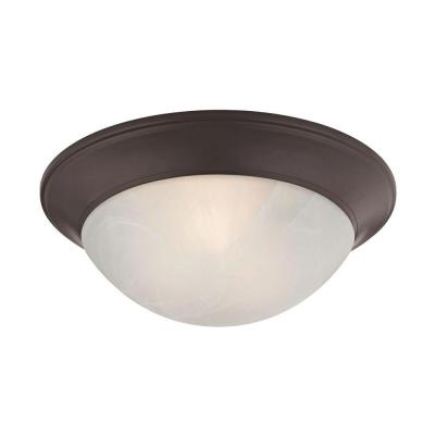 2-Light Oil-Rubbed Bronze Flushmount