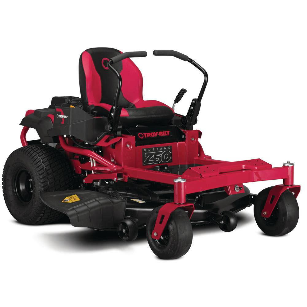 Troy-Bilt Mustang 50 in. 679 cc V-Twin OHV Engine Gas Zero Turn Riding Mower with Dual Hydro Transmissions and Lap Bar Control