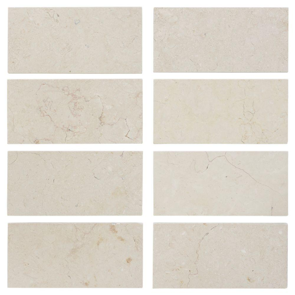 Jeffrey Court Creama 3 In X 6 In Honed Marble Floorwall Tile 8