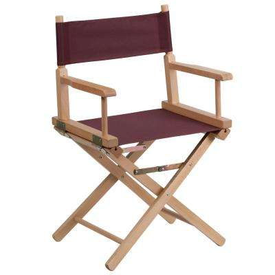 Standard Height Directors Brown Chair