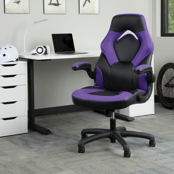 Ofm Essentials Collection Racing Style Bonded Leather Gaming Chair In Purple Ess 3085 Pur Ess 3085 Pur The Home Depot