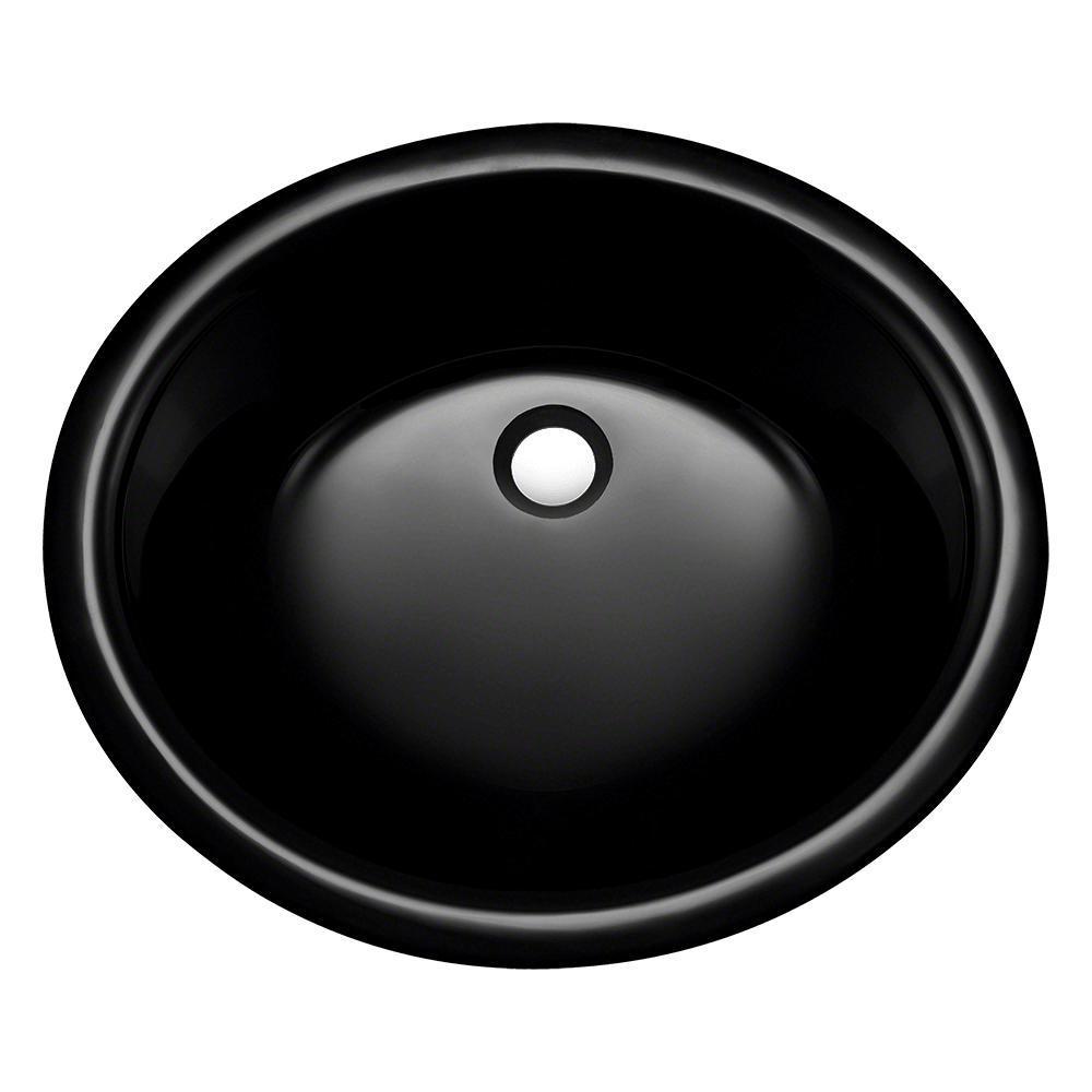Undermount Glass Sink in Black