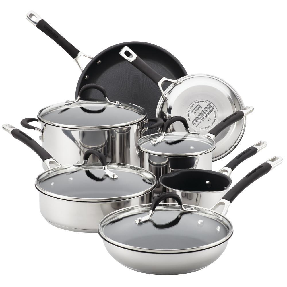 Momentum Stainless Steel Nonstick 11-Piece Cookware Set