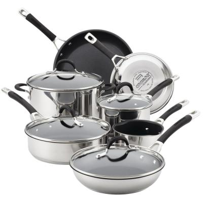 Momentum Stainless Steel Nonstick 11-Piece Cookware Set