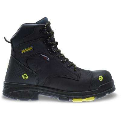 Men's Blade LX Size 10.5M Black Full-Grain Leather Waterproof Composite Toe 6 in. Boot