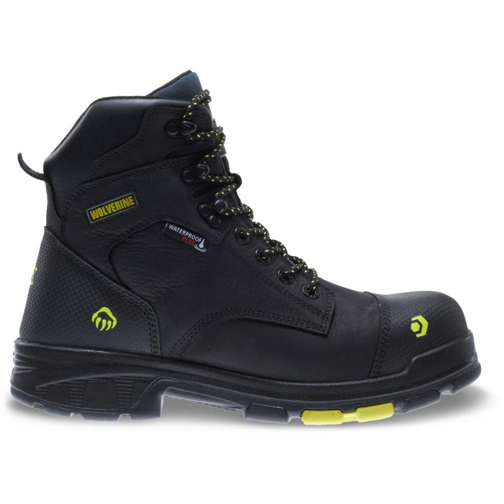 Men's Blade LX Size 8.5M Black Full-Grain Leather Waterproof Composite Toe 6 in. Boot