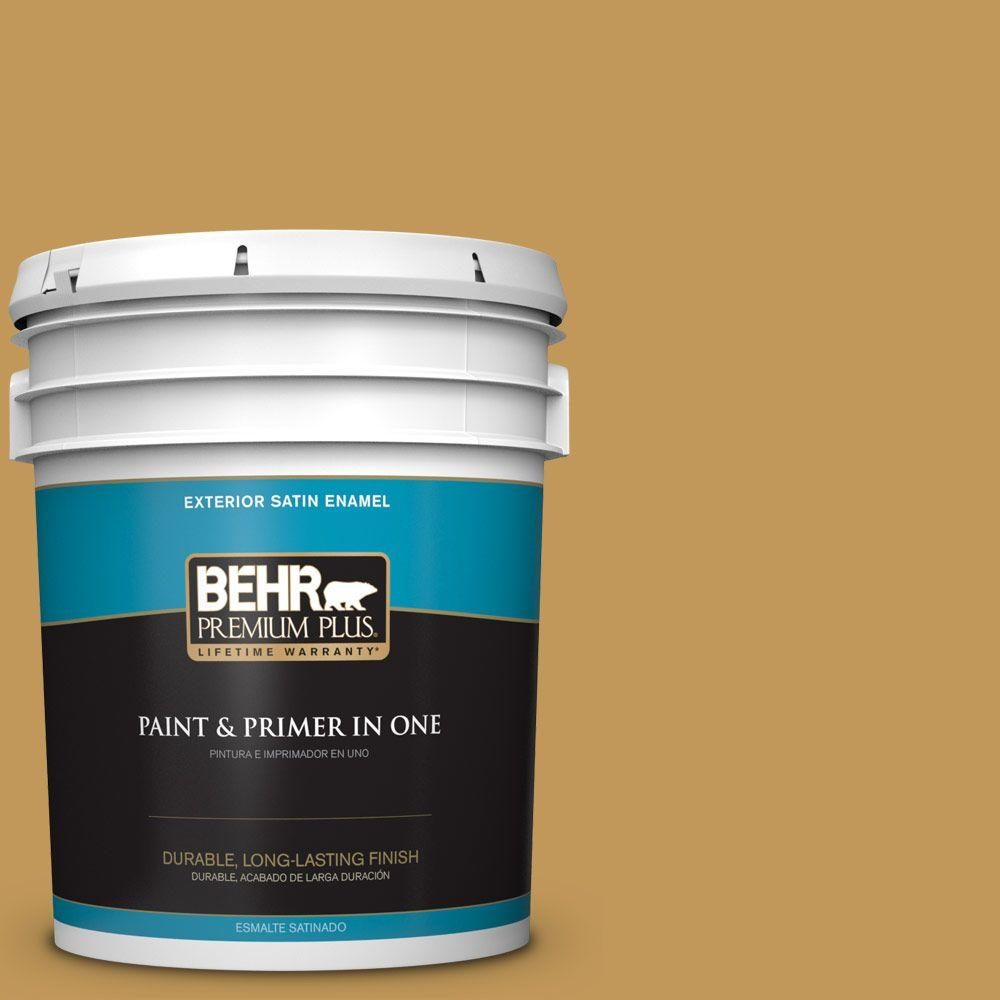 5-gal. #330D-6 Townhouse Tan Satin Enamel Exterior Paint