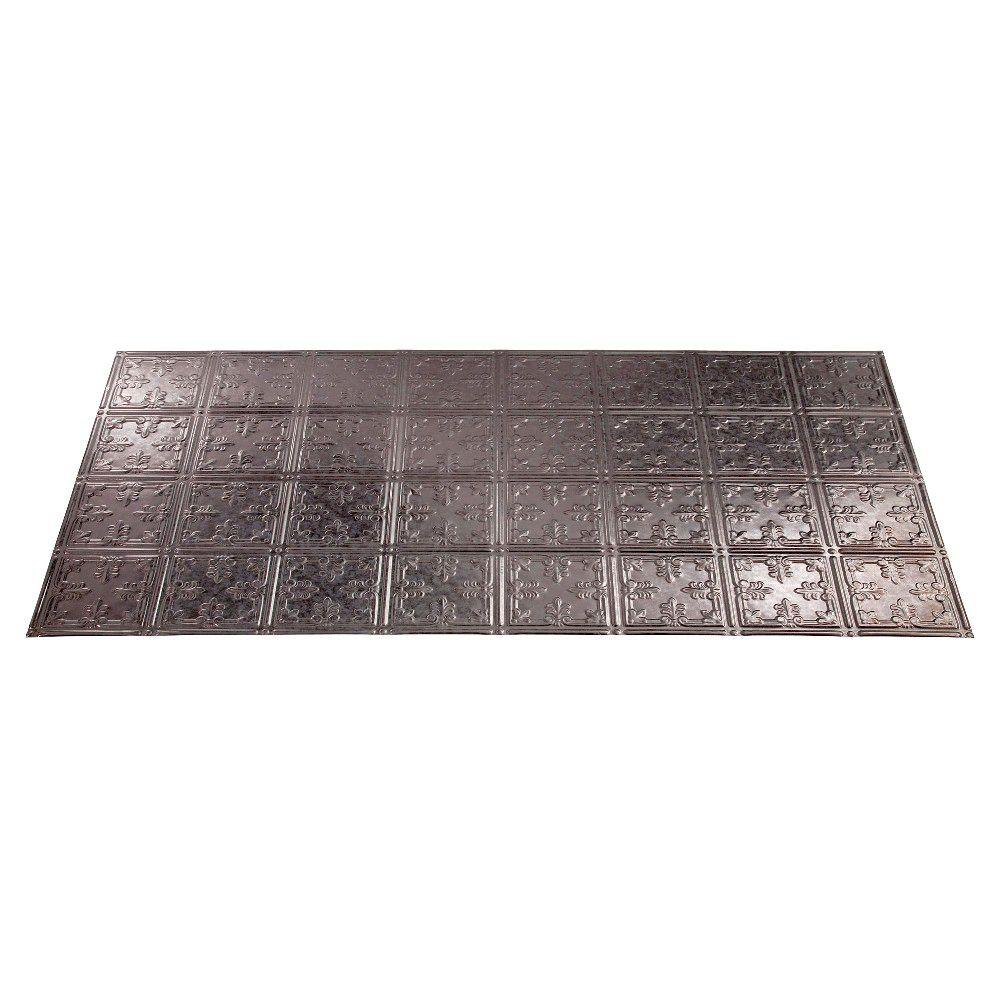 Fasade Traditional 10 2 ft. x 4 ft. Galvanized Steel Lay-in Ceiling Tile