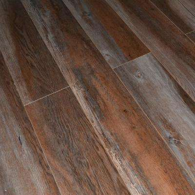 Grey Ash Oak 12 mm Thick x 5.7 in. Wide x 48 in. Length Click-Locking Laminate Flooring Planks (13.27 sq. ft. / case)