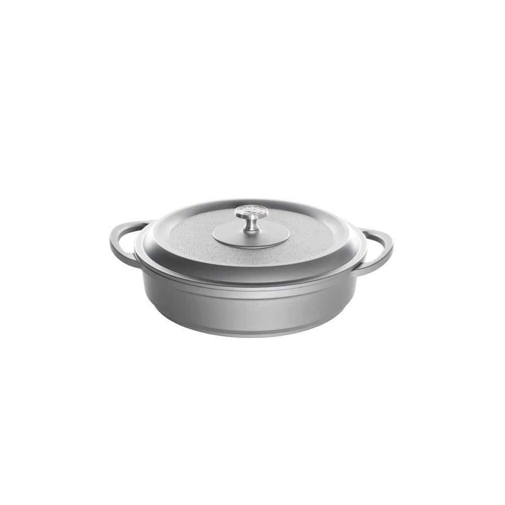 Nordic Ware Pro Cast Traditions Enameled Cast 4.5 qt./12 in. Braiser Pan with Cover Slate