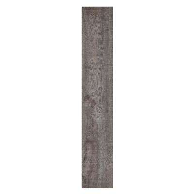 Sterling 6 in. x 36 in. Rustic Grey Peel and Stick Vinyl Plank Flooring (15 sq. ft. / case)