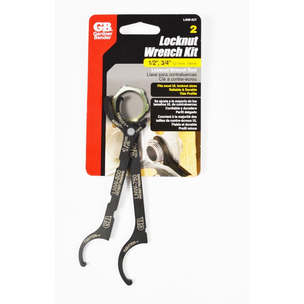 Gardner Bender Locknut Wrench Kit, Fits .50 inch and .75 inch Locknuts by Gardner Bender