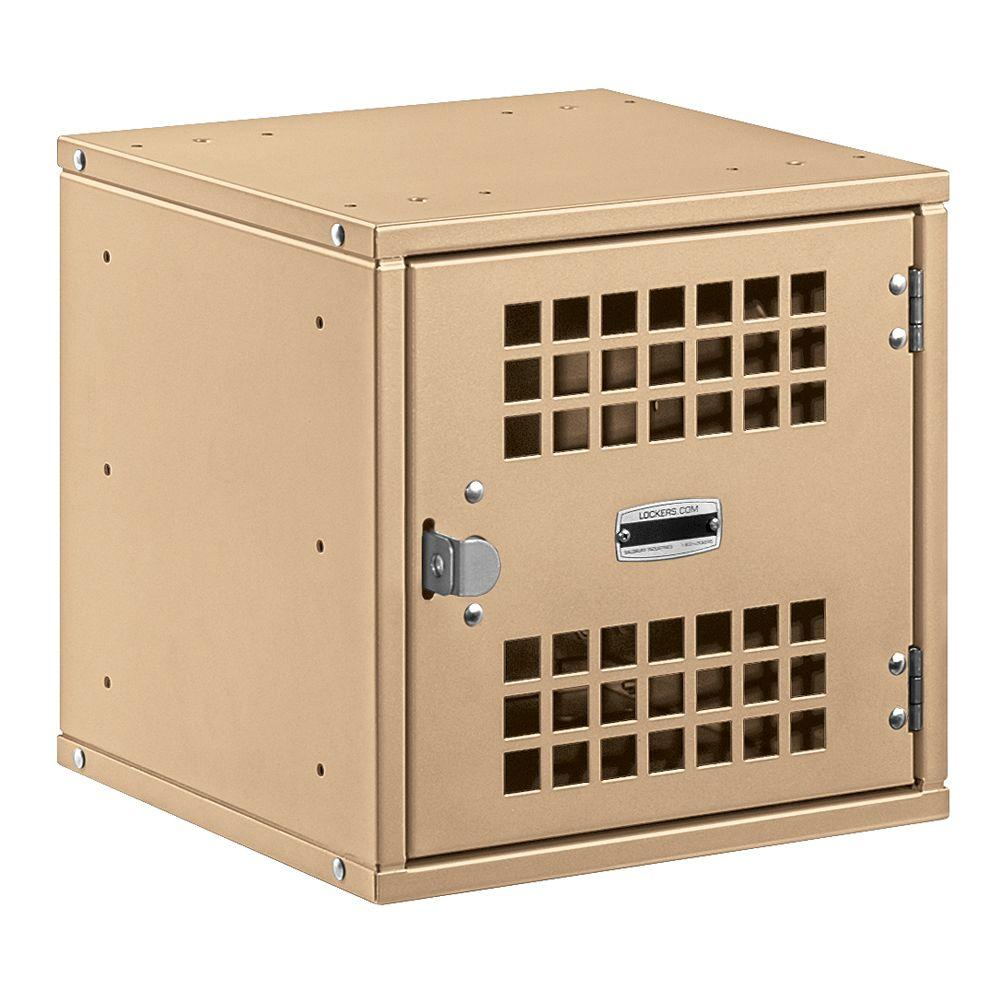 Salsbury Industries 80000 Series 12 in. W. x 12 in. H x 12 in. D Vented Door Metal Modular Locker in Tan
