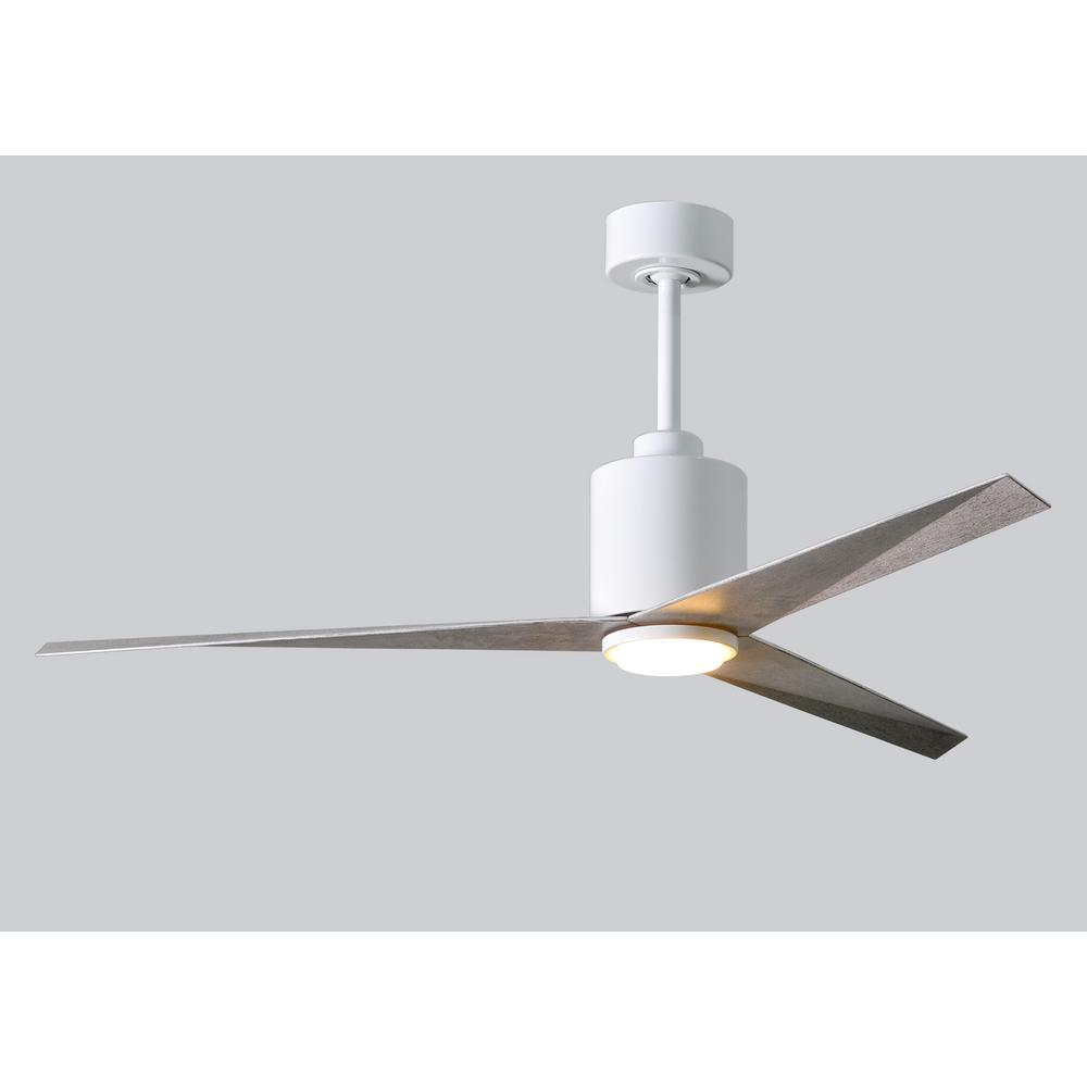 Atlas Eliza 56 In Led Indoor Outdoor Damp Gloss White Ceiling Fan Have Just Installed A Remote Controlled With Light