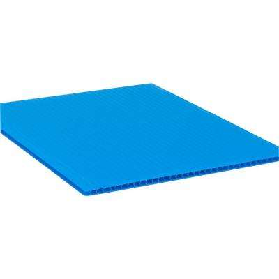 48 in. x 96 in. x 0.157 in. Royal Blue Corrugated Plastic Sheet (10-Pack)