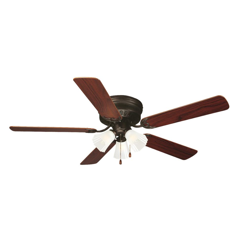 Hugger Ceiling Fans Without Light: Design House Millbridge 52 In. Oil-Rubbed Bronze Hugger