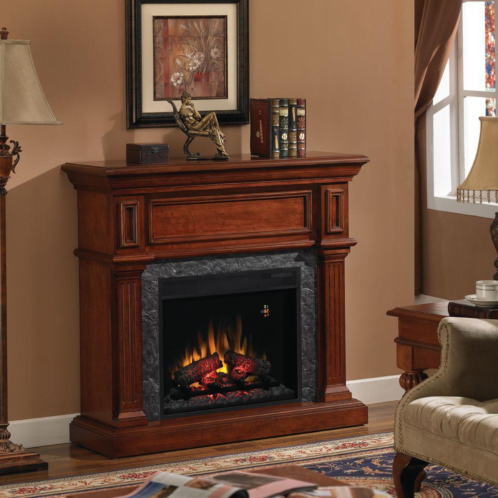 Chimney Free 42 in. Convertible Electric Fireplace in Mahogany-DISCONTINUED