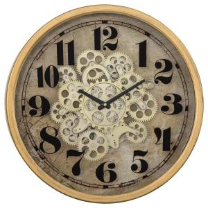 Yosemite Home Decor Gold Round Gear Clock 5130011 The