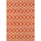 Baja Orange 7 ft. x 10 ft. Indoor/Outdoor Area Rug