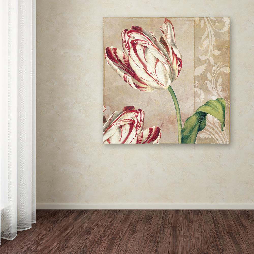 """24 in. x 24 in. """"Peppermint Tulips I"""" by Color Bakery"""