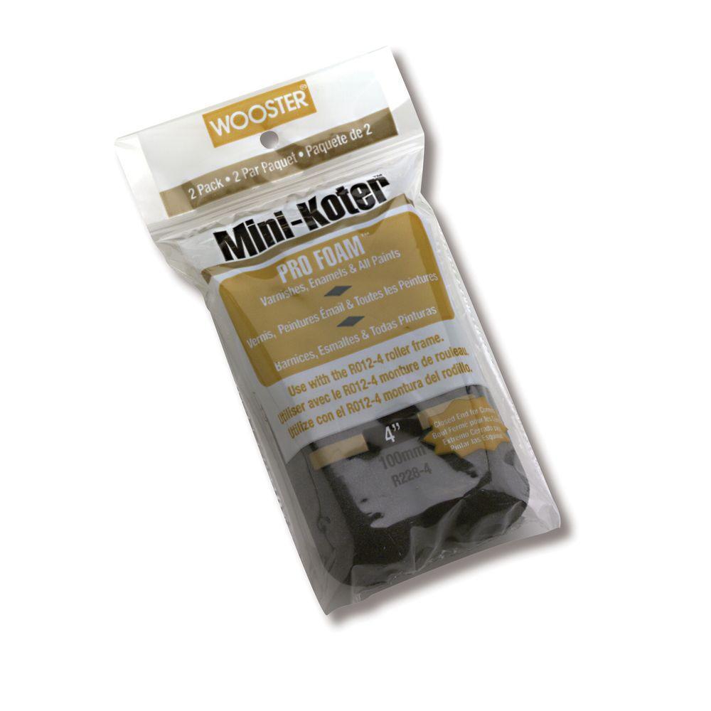 4 in. Mini-Koter Pro Foam Rollers (2 Pack)