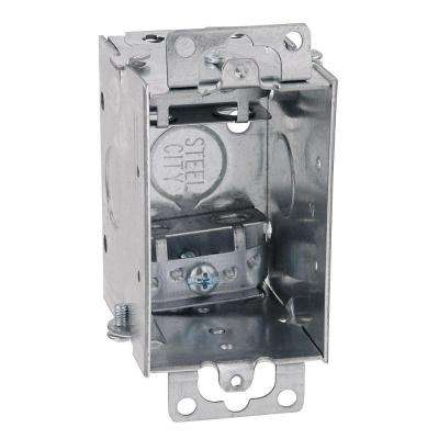 1-Gang 3 in. x 2 in. Old Work Metal Electrical Switch Box