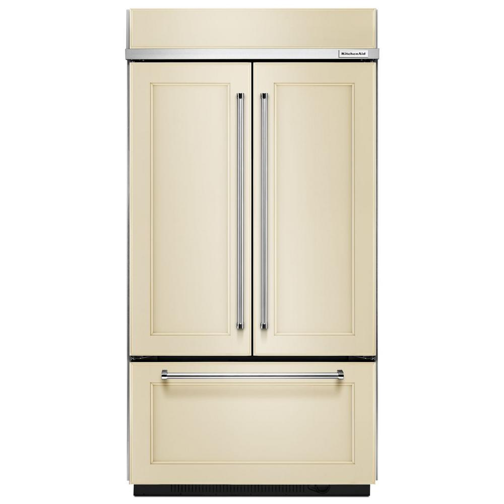 KitchenAid 42 In. W 24.2 Cu. Ft. Built In French Door Refrigerator