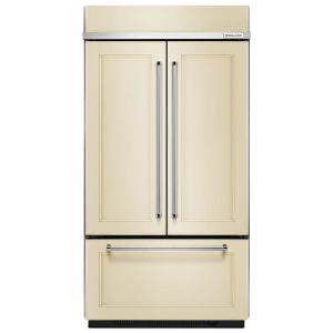 Click here to buy KitchenAid 42 inch W 24.2 cu. ft. Built-In French Door Refrigerator in Panel Ready, Platinum Interior by KitchenAid.