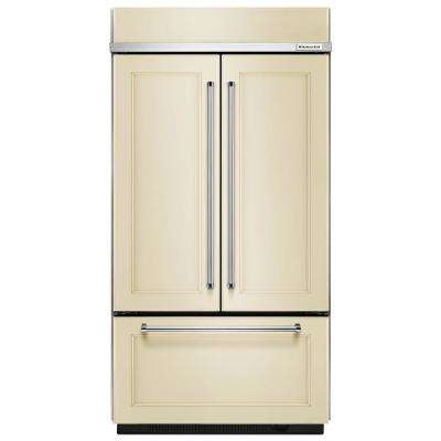 42 in. W 24.2 cu. ft. Built-In French Door Refrigerator in Panel Ready, Platinum Interior