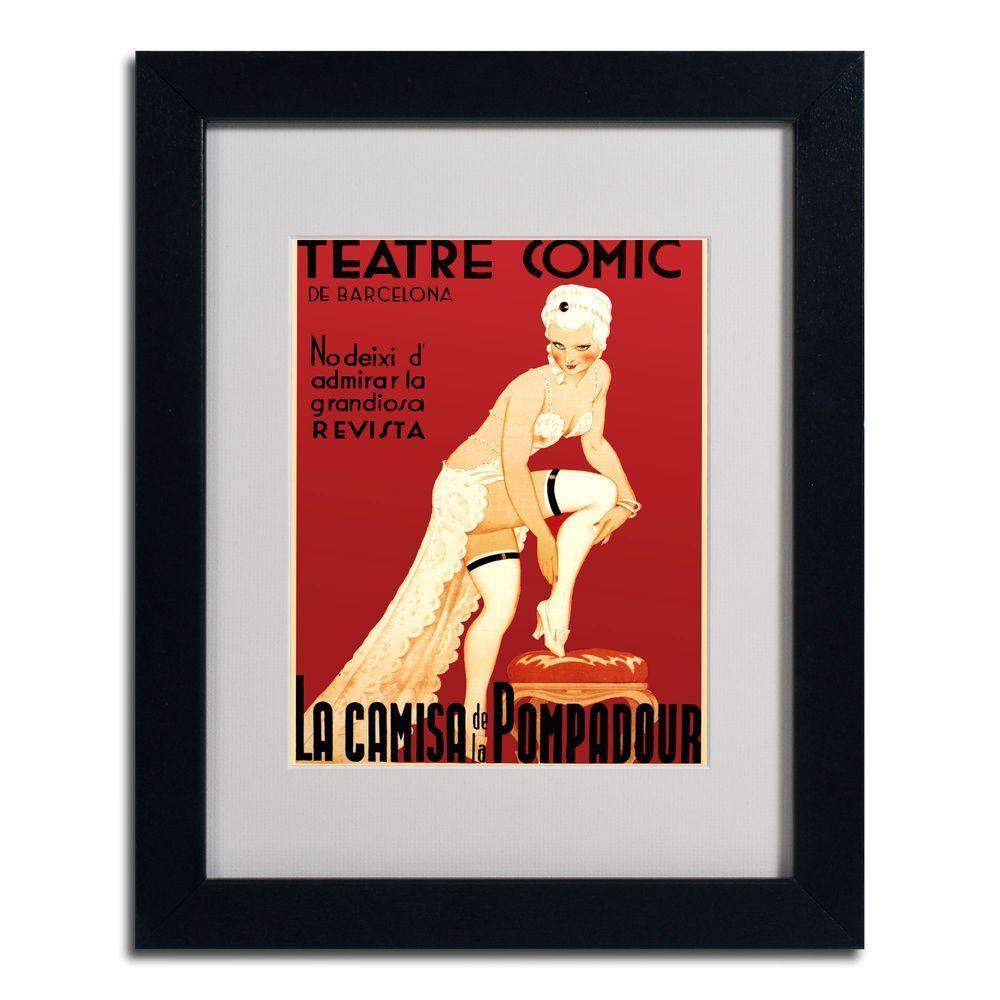 16 in. x 20 in. Teatre Comic de Barcelona Black Framed