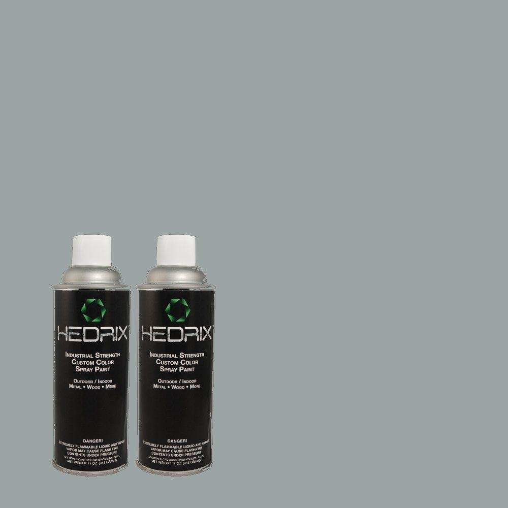 Hedrix 11 oz. Match of PEC-25 Cool Blue Semi-Gloss Custom Spray Paint (2-Pack)