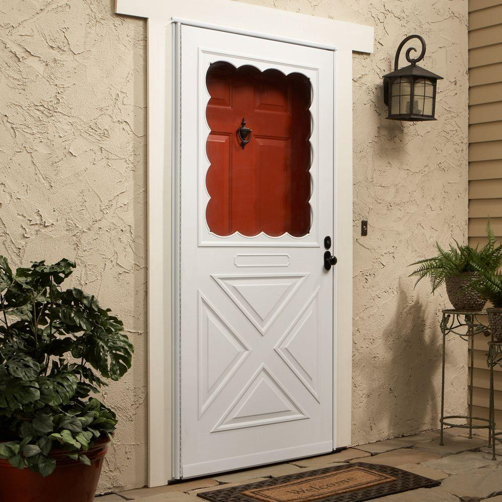 Emco 36 In X 80 Forever White Universal Door Crossbuck Composite Storm
