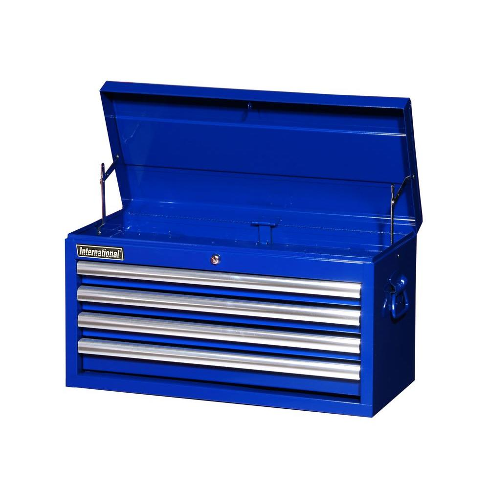 null Tech Series 27 in. 4-Drawer Top Chest, Blue