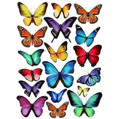 Papillion Multi Wall Decal  sc 1 st  Home Depot & Animals - Wall Decals - Wall Decor - The Home Depot