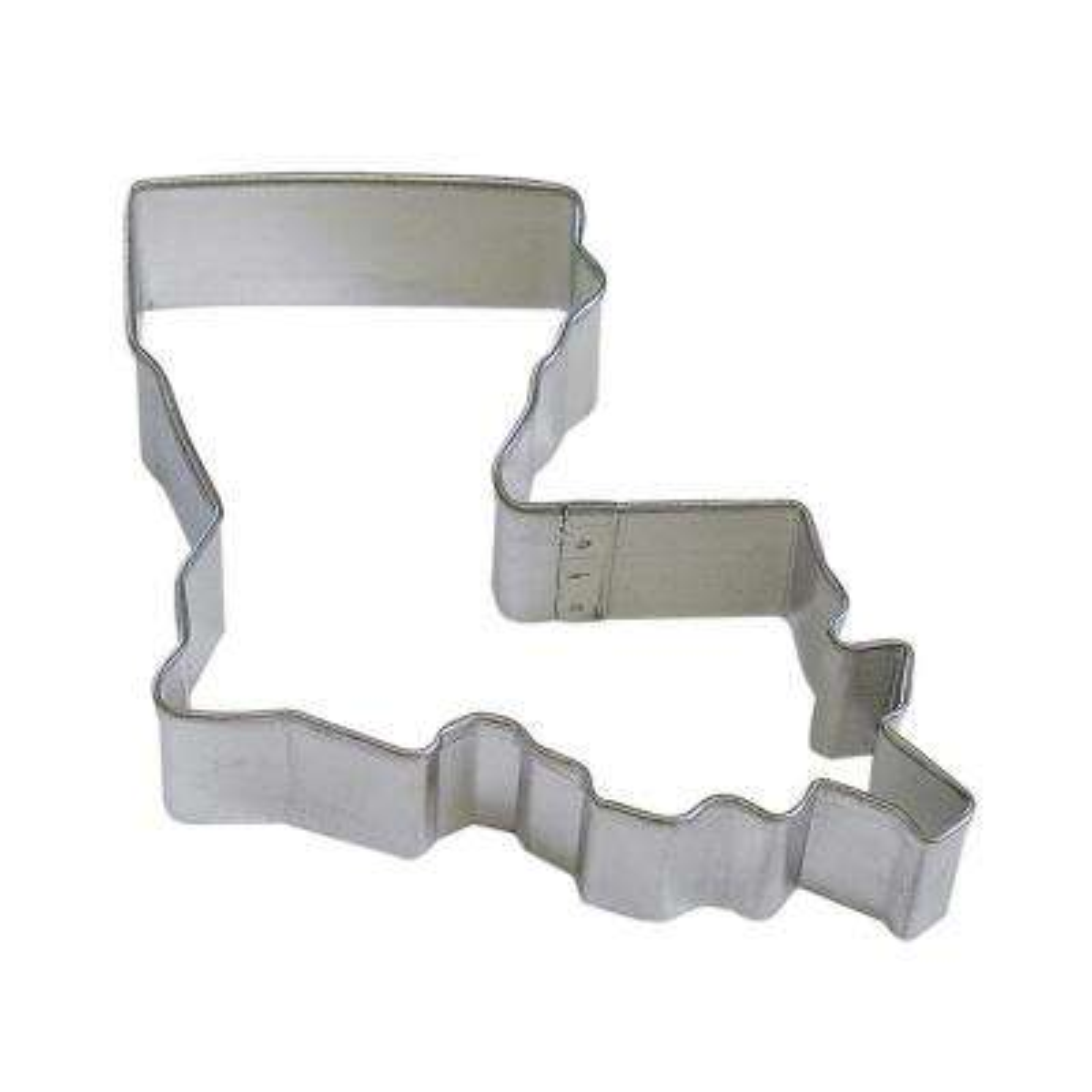 12-Piece Louisiana State Tinplated Steel Cookie Cutter & Recipe