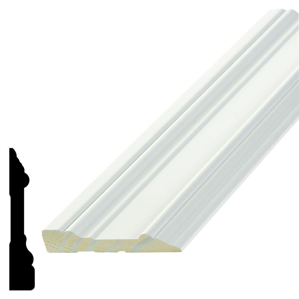 Alexandria Moulding WP 7715 5/8 in. x 3-1/2 in. x 96 in. Primed Pine Finger-Jointed Casing