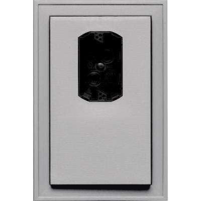 8.125 in. x 12 in. #016 Gray Jumbo Electrical Mounting Block Offset