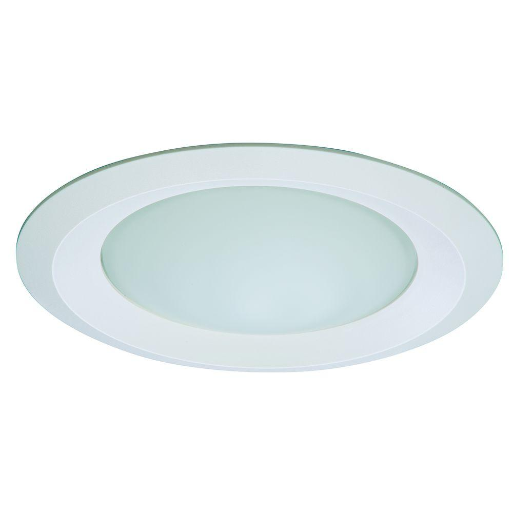 E26 Series 6 In. White Recessed Ceiling Light Shower ...